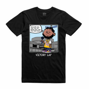 Victory Lap Black T-Shirt (PNUTS Collection)