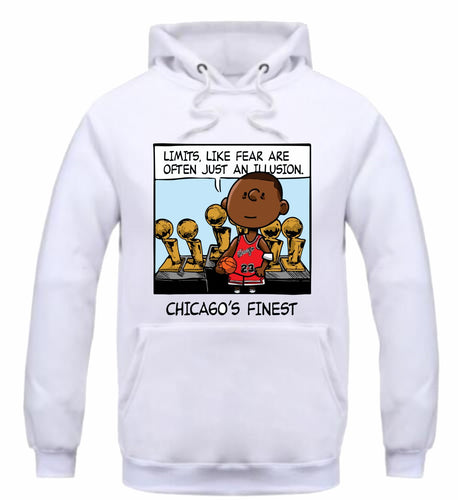 Chicago's Finest White Hoodie (PNUTS Collection)