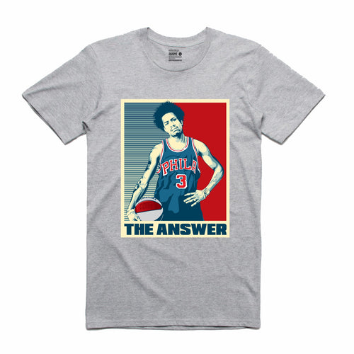 The Answer Grey T-Shirt (Stencil Collection)