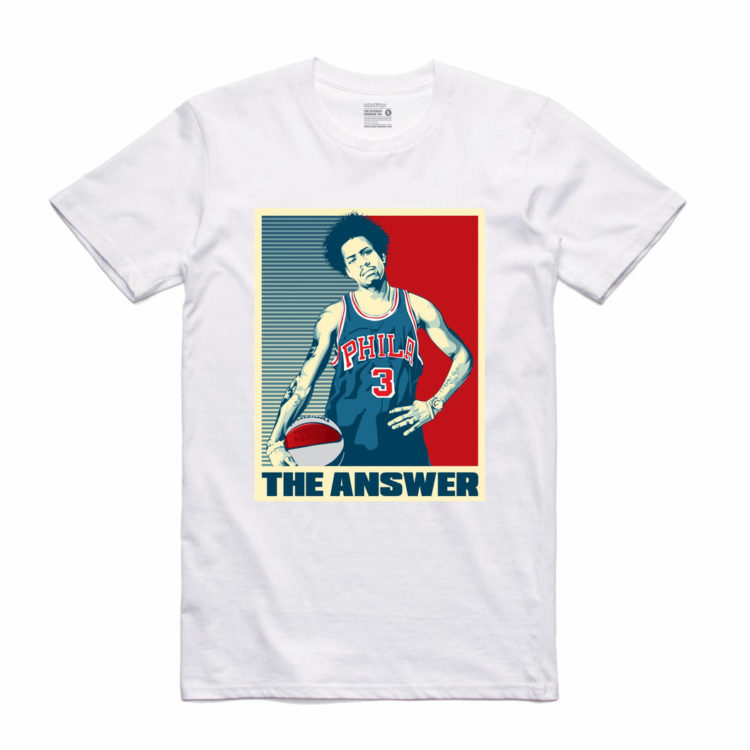 The Answer White T-Shirt (Stencil Collection)