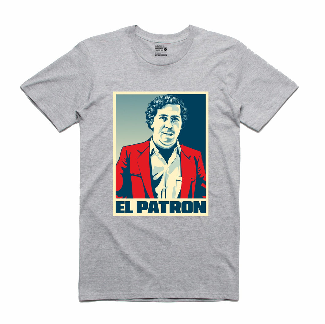 El Patron Grey T-Shirt (Stencil Collection)
