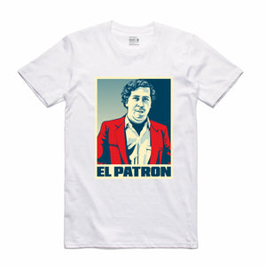 El Patron White T-Shirt (Stencil Collection)