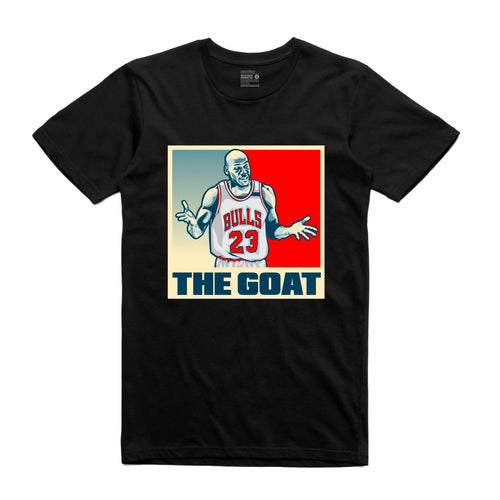 The GOAT Black T-Shirt (Stencil Collection)