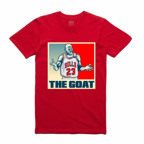 The GOAT Red T-Shirt (Stencil Collection)