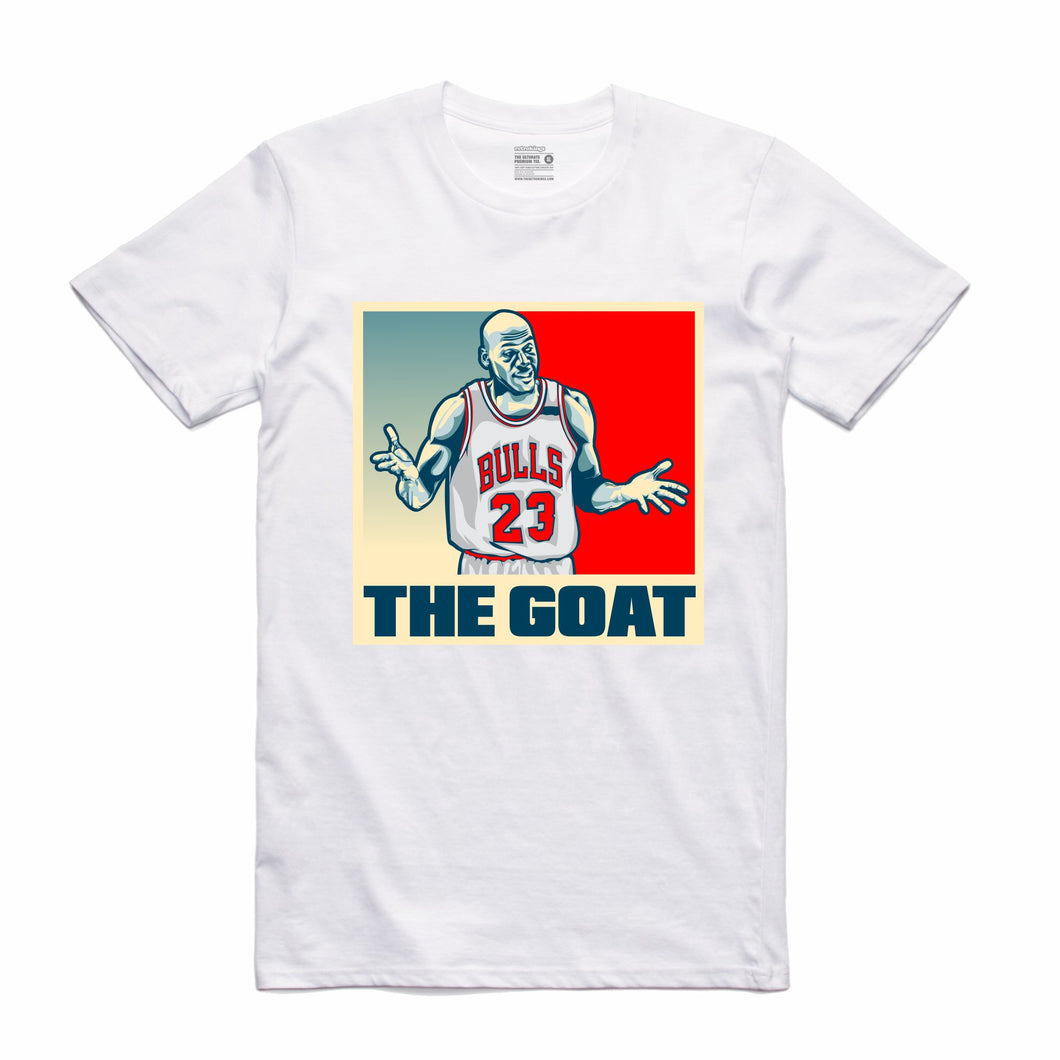 The GOAT White T-Shirt (Stencil Collection)