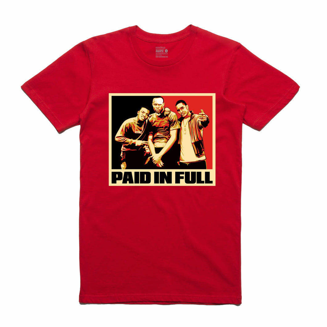 Paid In Full Red T-Shirt (Stencil Collection)