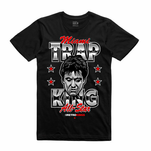 Scarface Black T-Shirt (Trap King Collection)