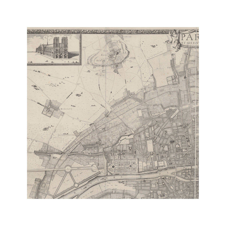 1672 PLAN de PARIS - Panels - Foundry