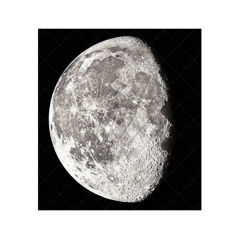 1896 MOON PHOTOGRAVURES - PHASE 02 - THREE QUARTER MOON - Foundry