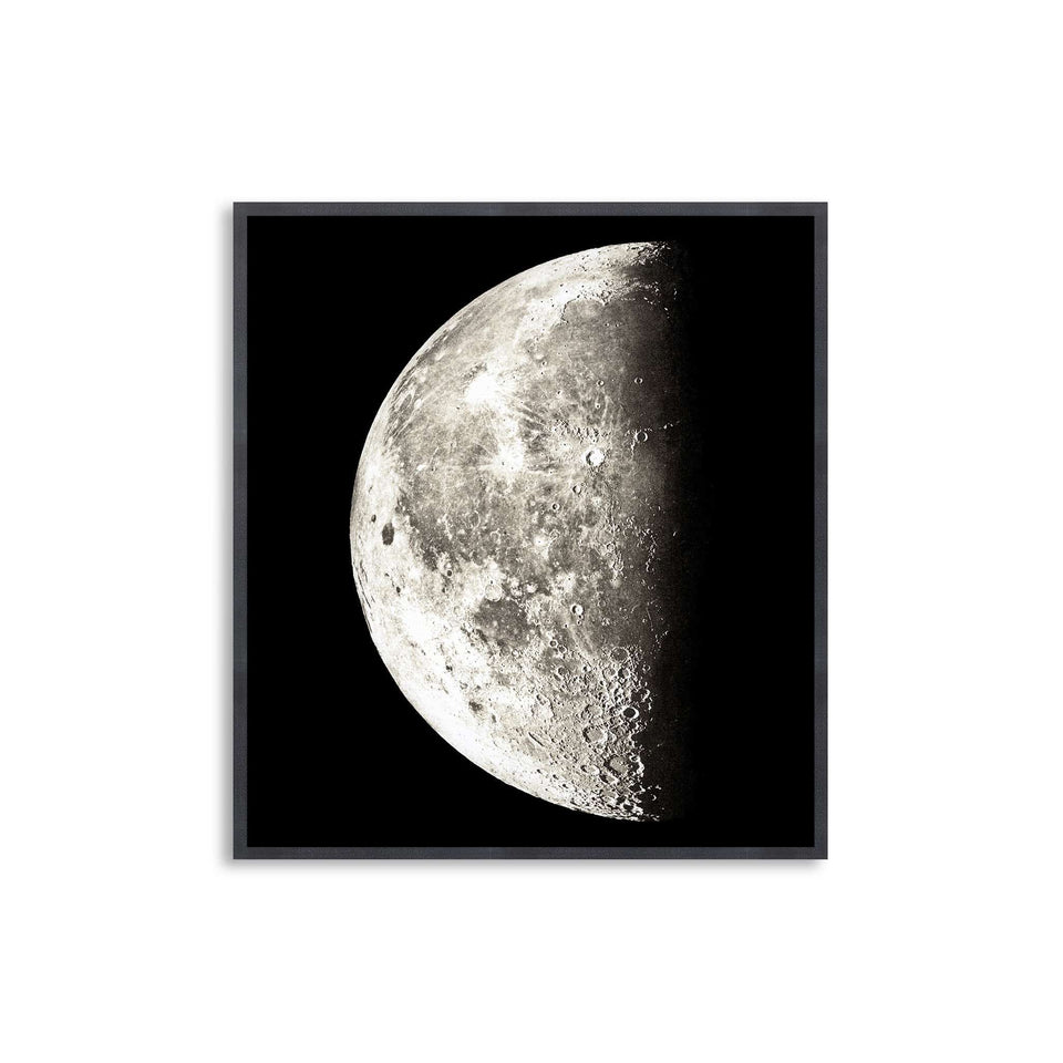 1896 MOON PHOTOGRAVURES - PHASE 03 - HALF MOON - Foundry