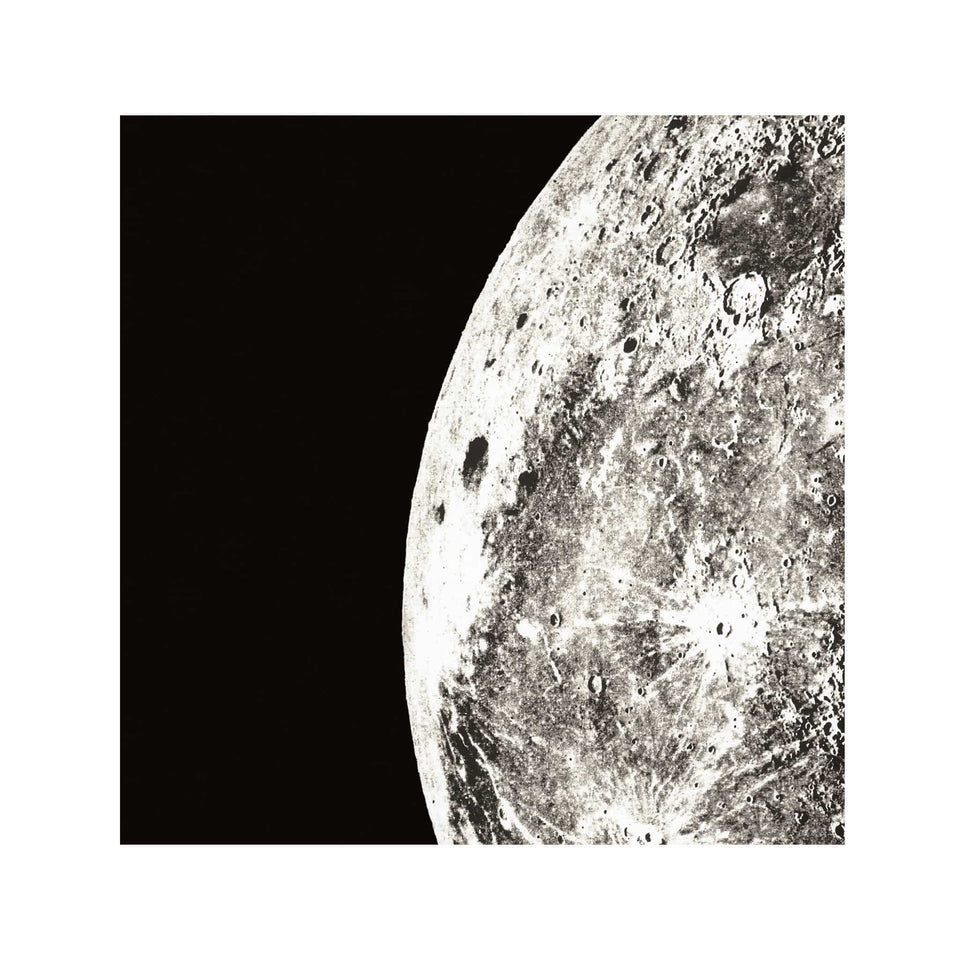 1896 MOON PHOTOGRAVURES - PHASE 05 - QUARTER MOON - Foundry