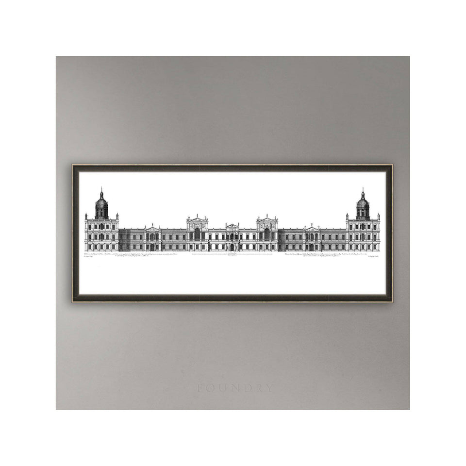 18TH C. PALACE ELEVATIONS #2 - Royal Palace at Whitehall Elevation - Foundry
