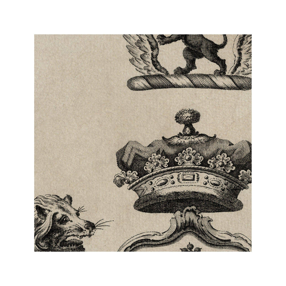 18th Century ENGLISH ARMORIAL ENGRAVING #05 - PIERREPOINT CREST - Foundry