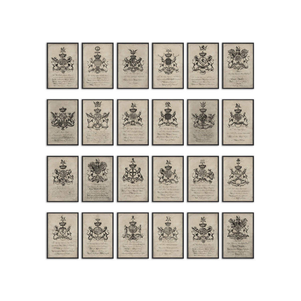 18th Century ENGLISH ARMORIAL ENGRAVING Collection - Foundry