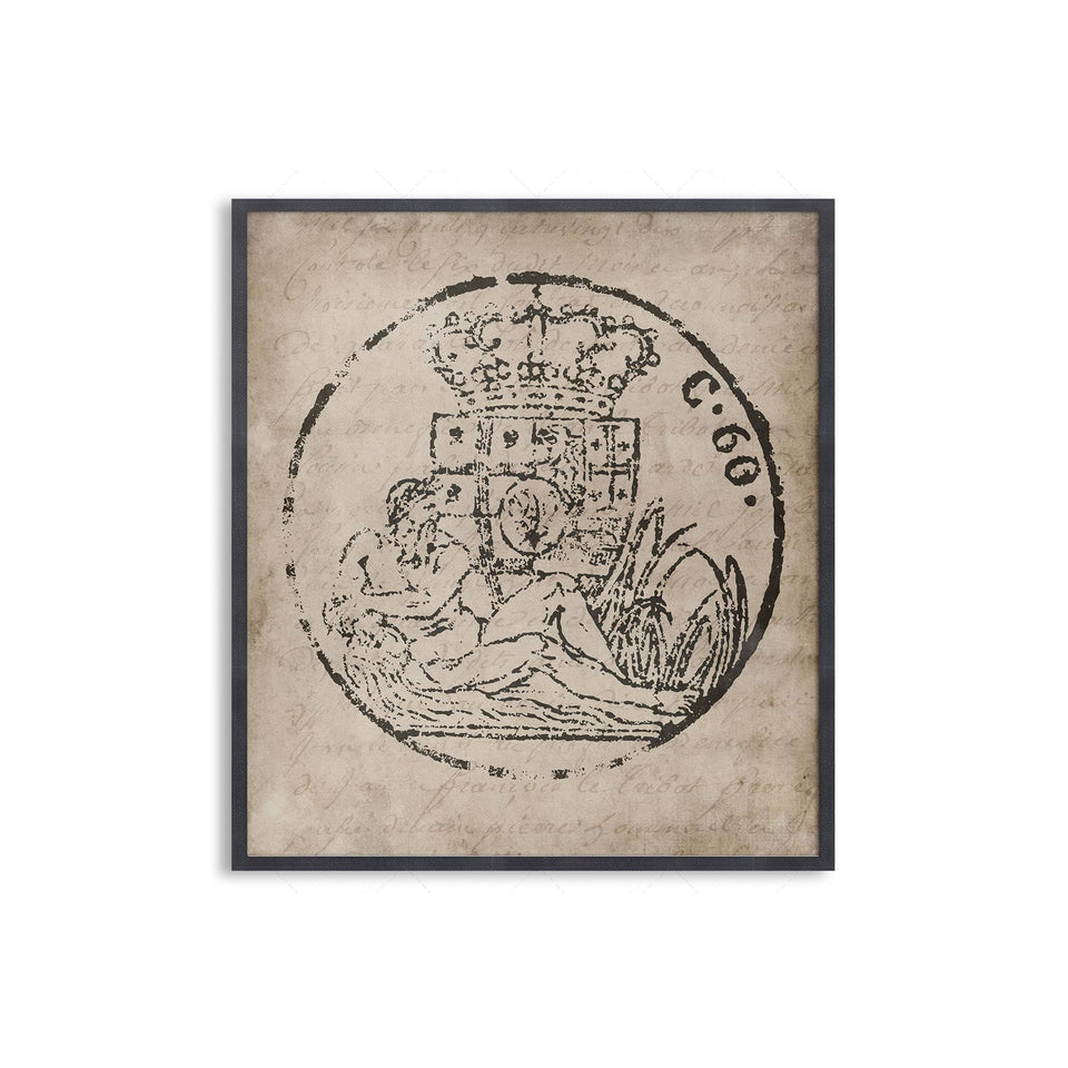 18th Century EUROPEAN DOCUMENT SEAL #02 - Foundry