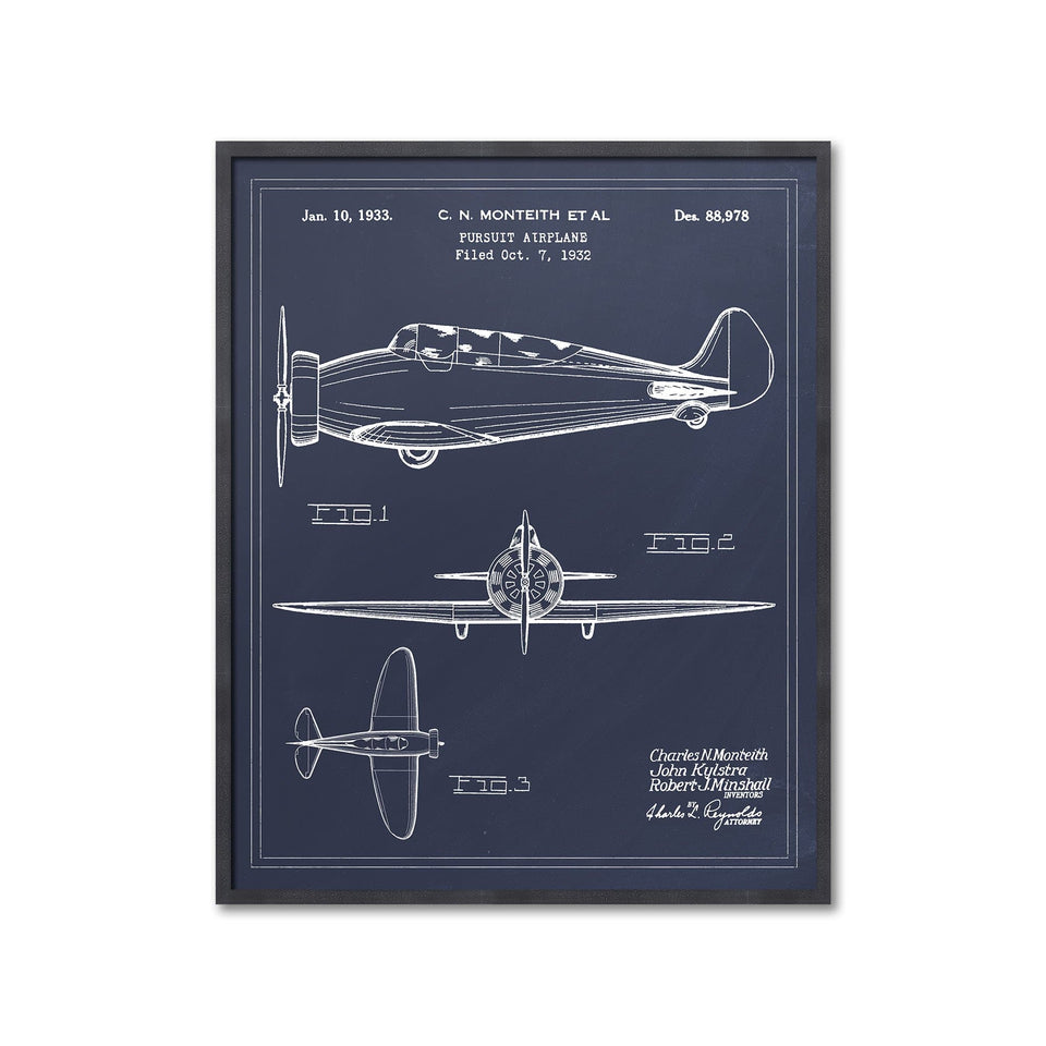 1932 PURSUIT AIRPLANE Patent - Foundry