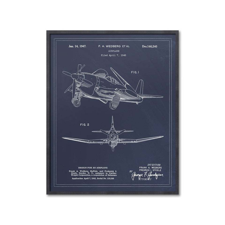1945 AIRPLANE Patent - Foundry