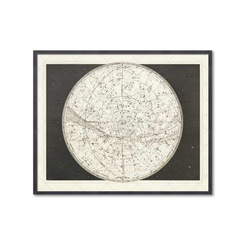 19th C. CONSTELLATION Map - Foundry