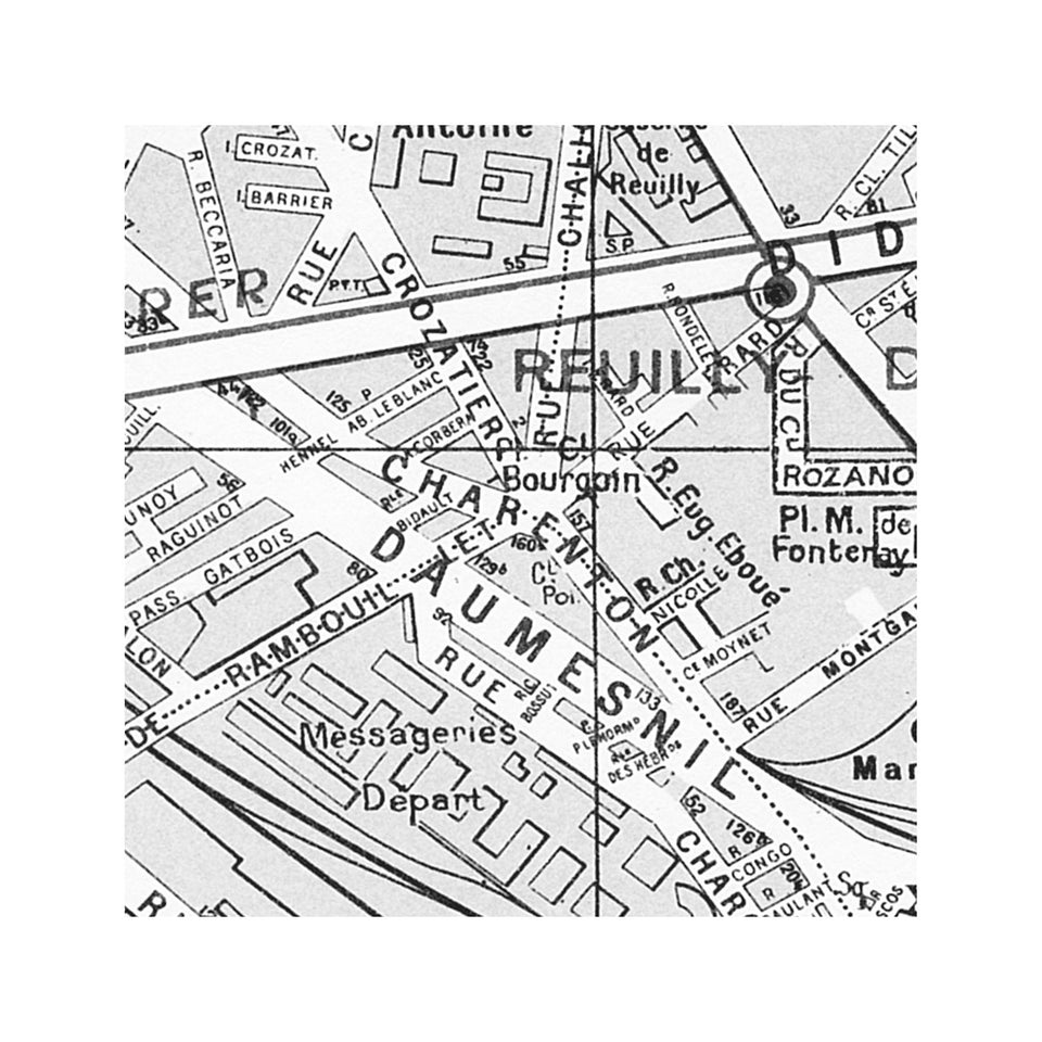 PARIS Map - 12th Arrondissement - REUILLY - Foundry