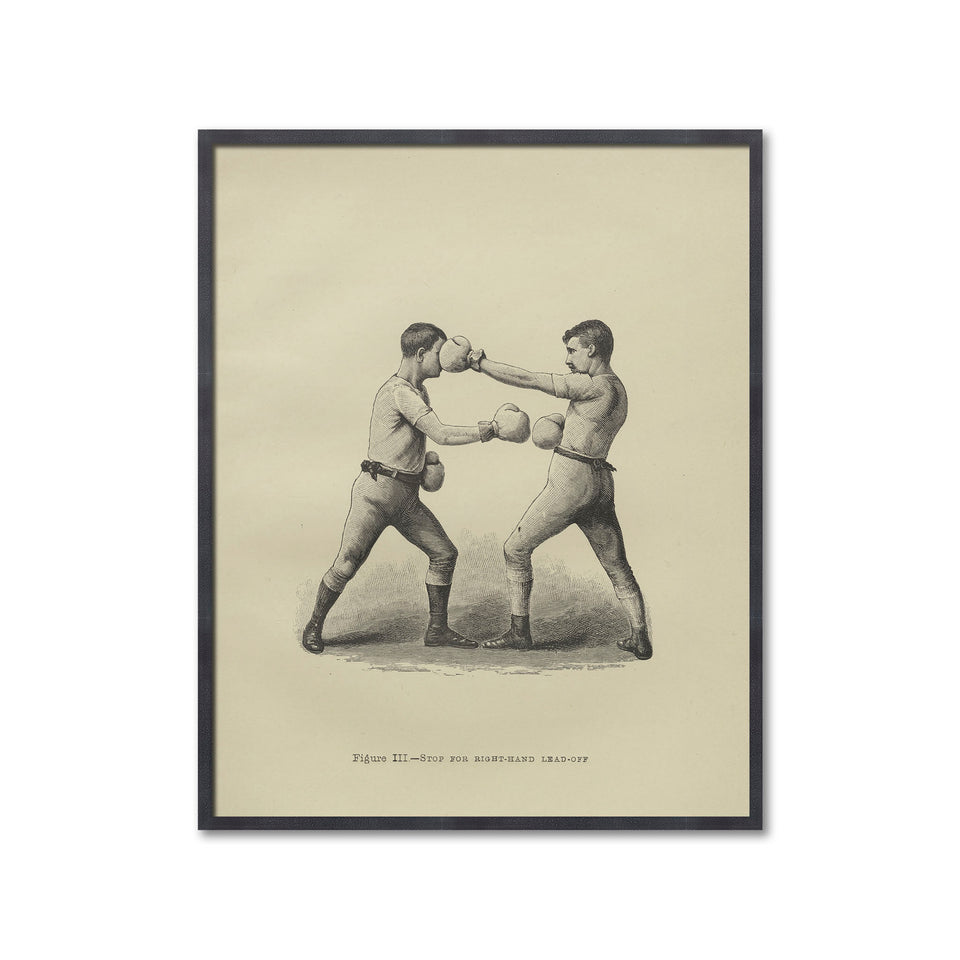 Boxing Illustration - Figure III - STOP for RIGHT HAND LEAD OFF - Foundry