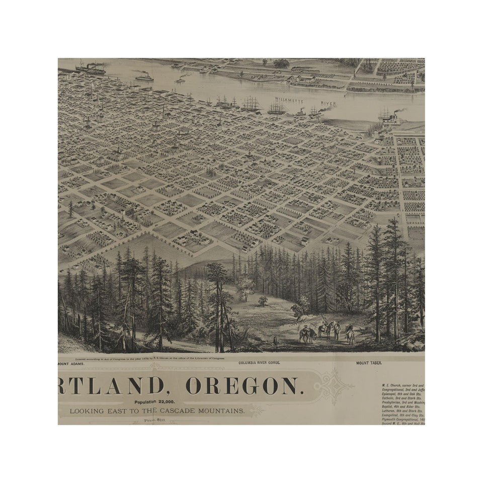 BIRD'S EYE VIEW of the CITY of PORTLAND - Foundry