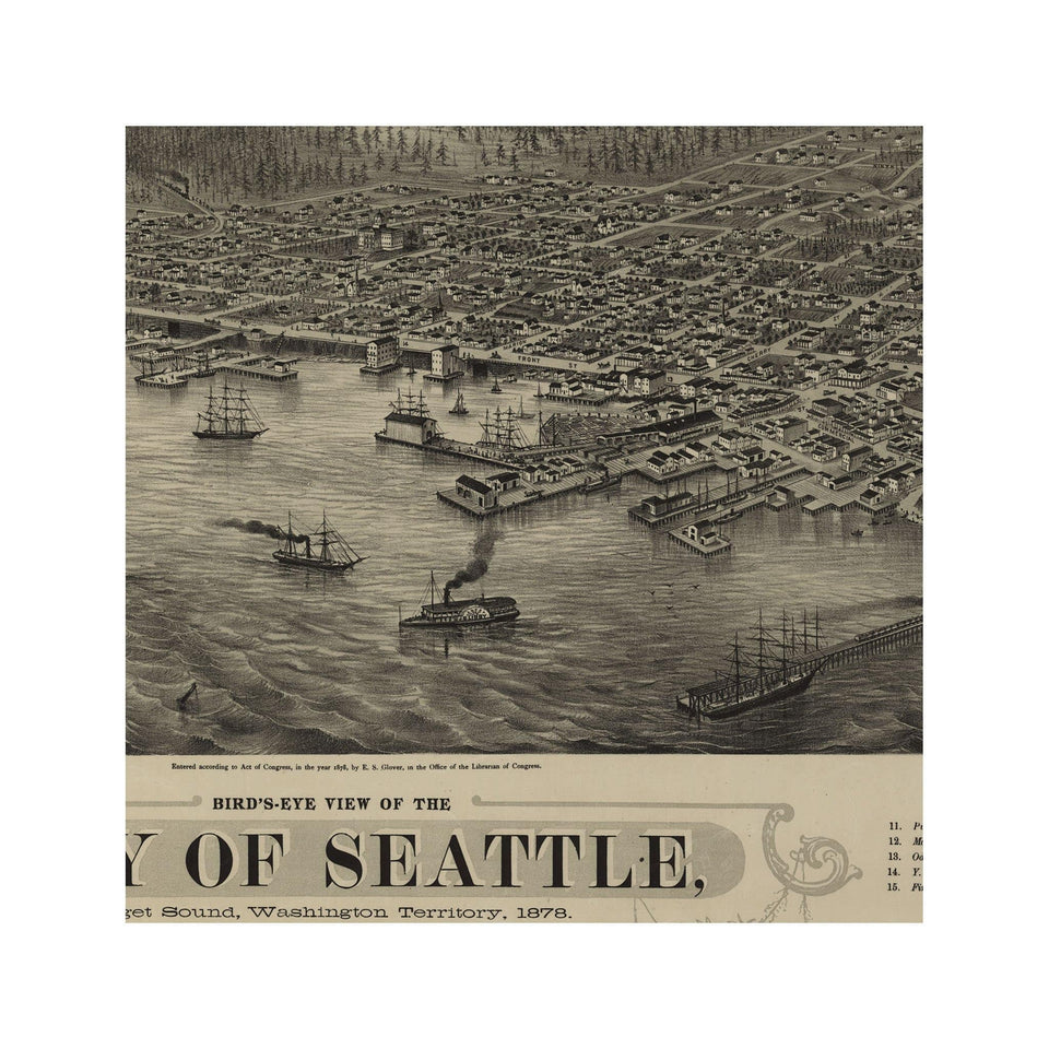 BIRD'S EYE VIEW of the CITY of SEATTLE - Foundry