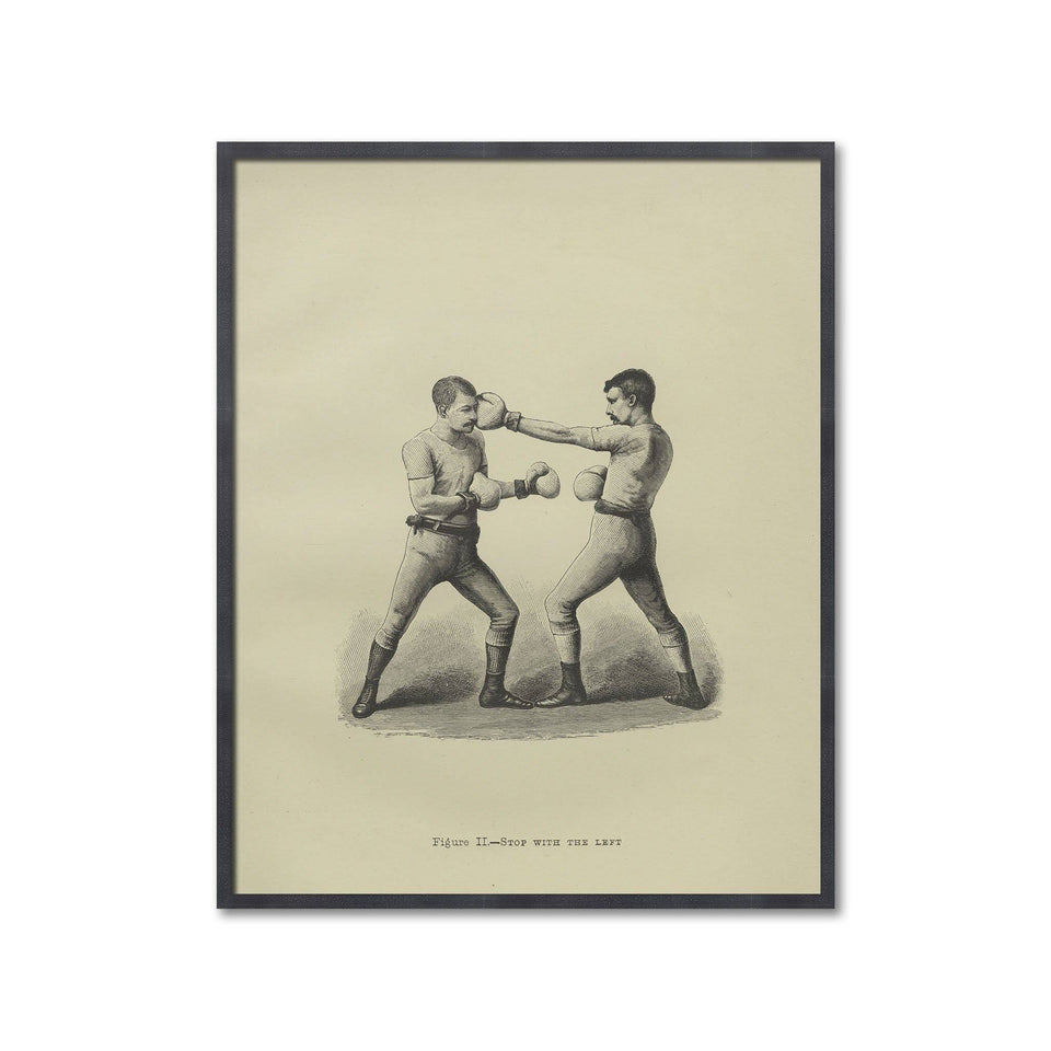 Boxing Illustration - Figure II - STOP with the LEFT - Foundry