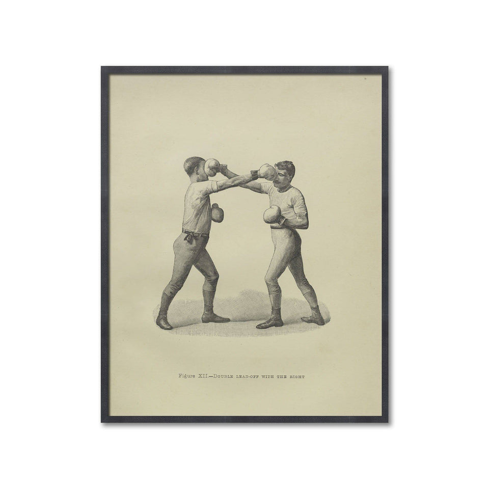 Boxing Illustration - Figure XII - DOUBLE LEAD-OFF with the RIGHT - Foundry