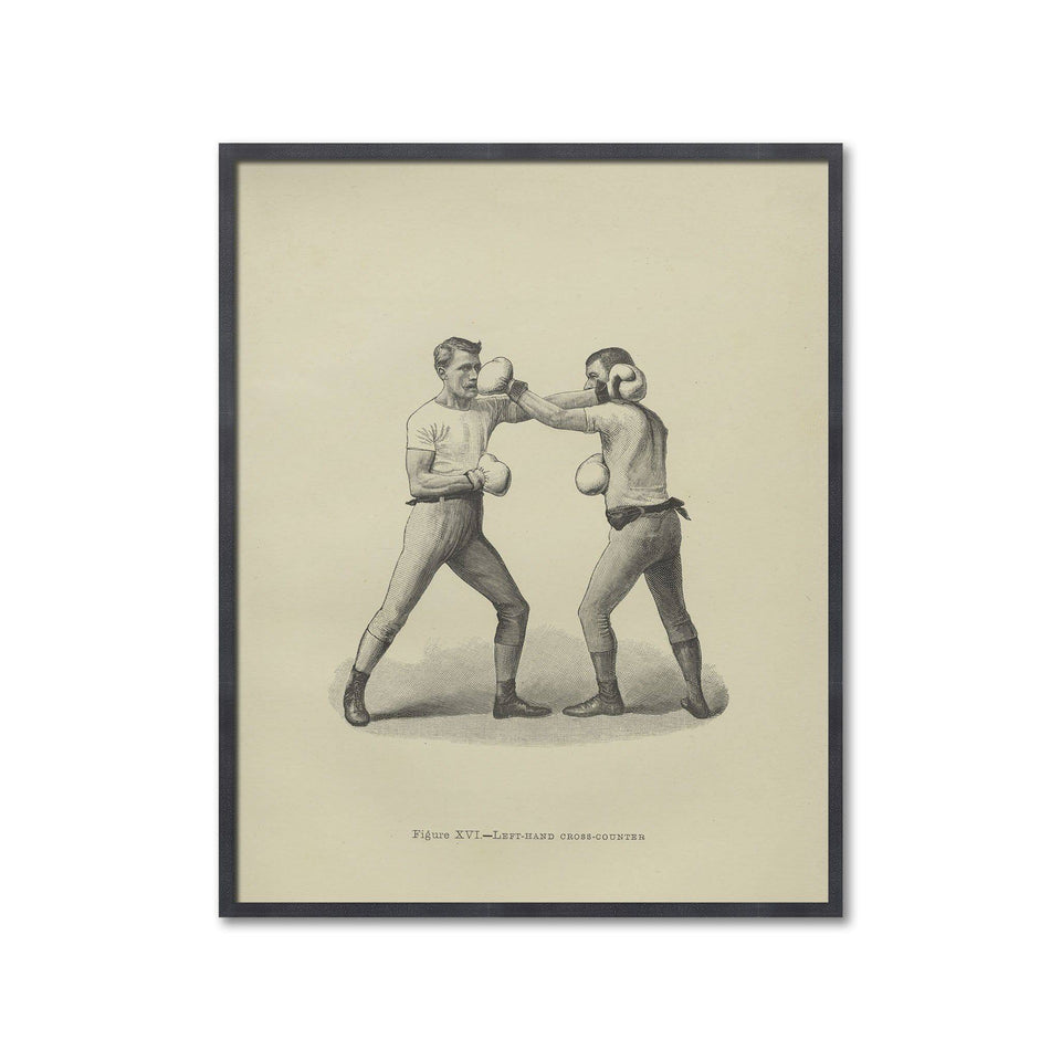 Boxing Illustration - Figure XVI - LEFT HAND CROSS COUNTER - Foundry