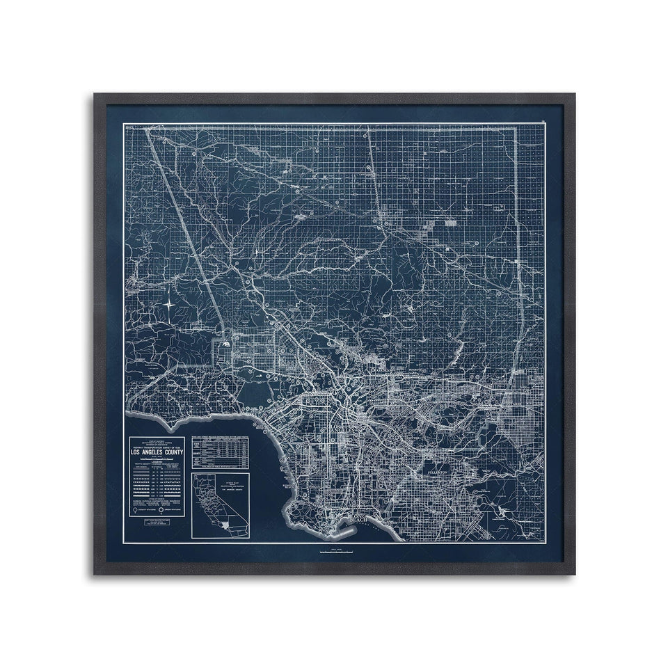 CALIFORNIA - LOS ANGELES Map - Foundry