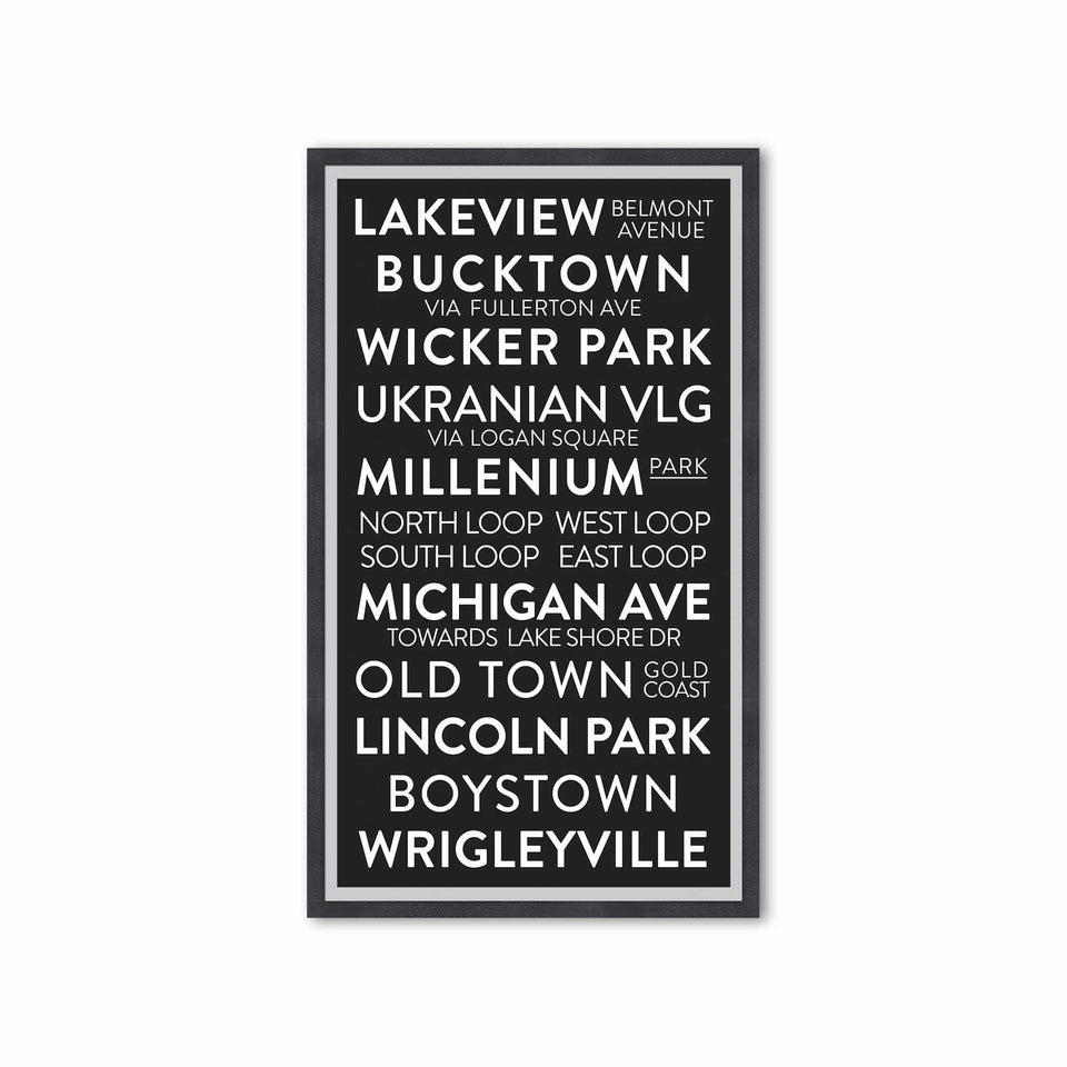 CHICAGO ILLINOIS Bus Scroll - LAKEVIEW