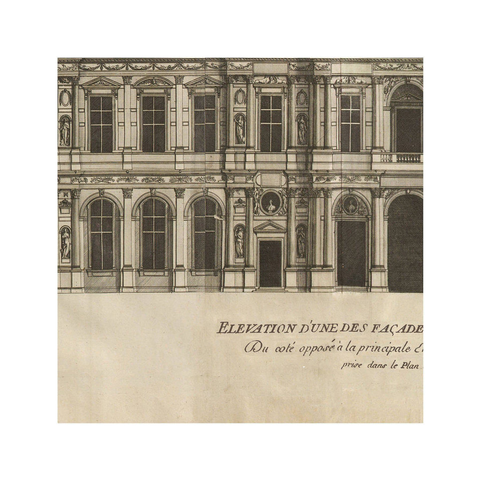 ELEVATION of the LOUVRE Circa 1700s - Foundry