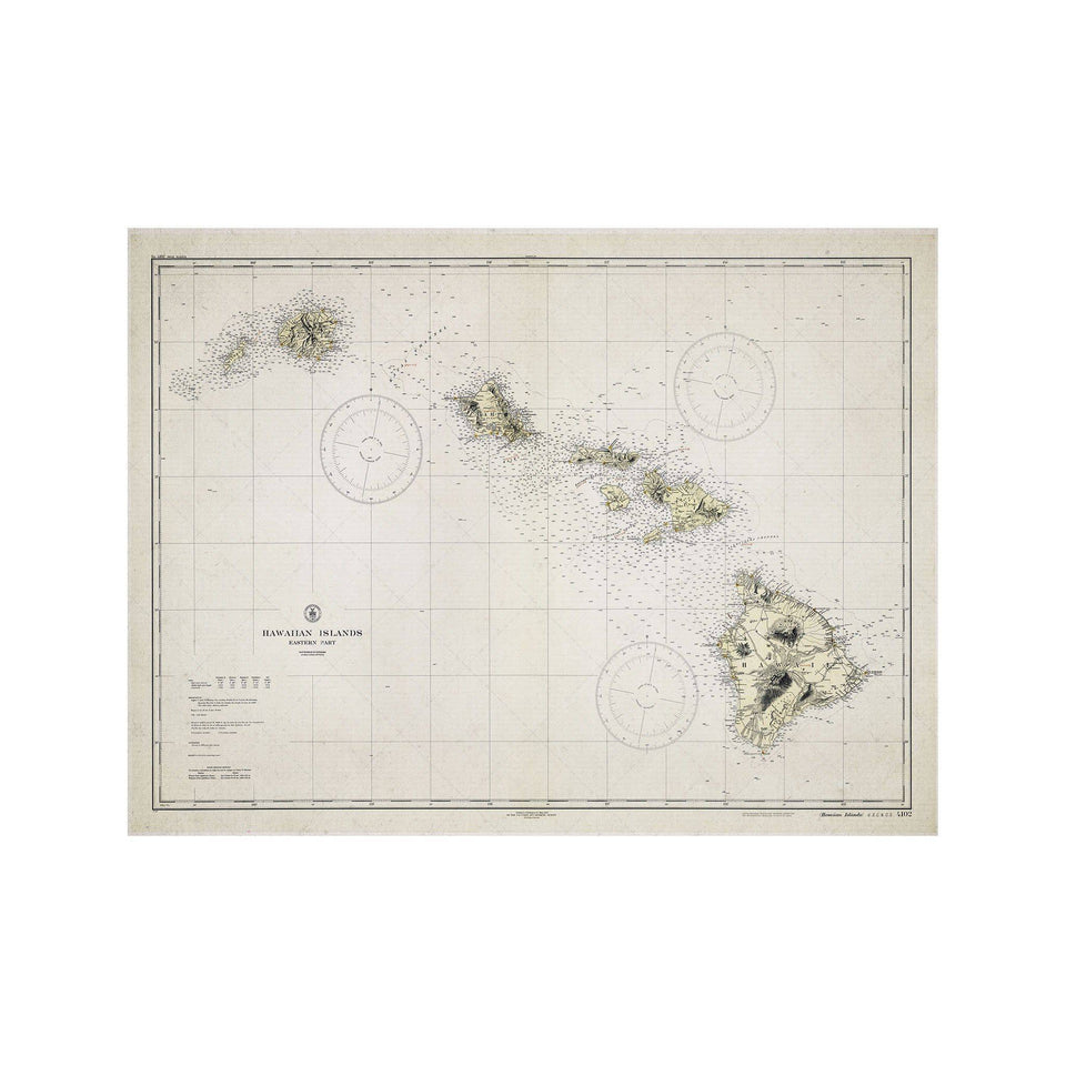 HAWAIIAN ISLANDS Map - Foundry