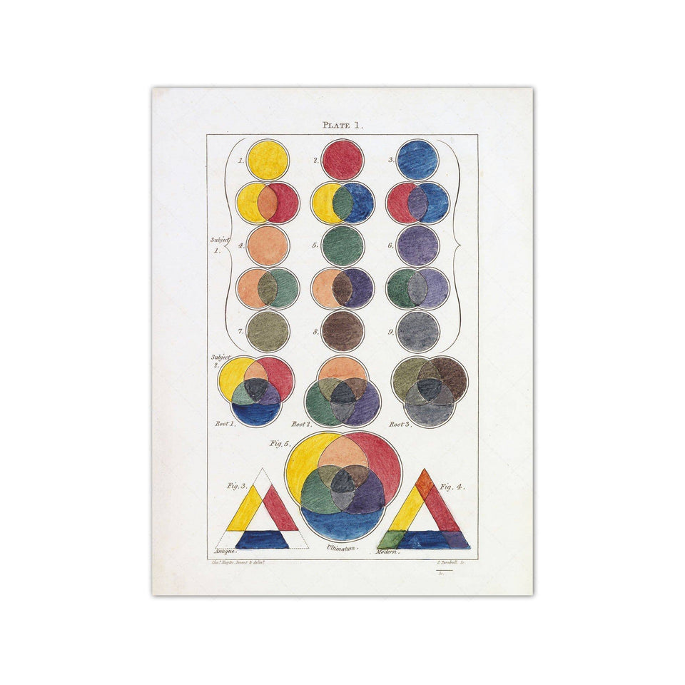 HAYTER'S COLOR THEORY - Plate 1 - Foundry