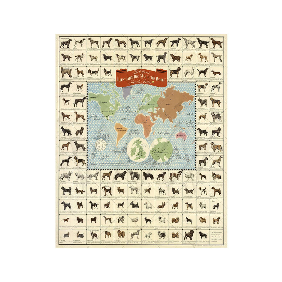 Ken Ration's ILLUSTRATED DOG MAP of the WORLD