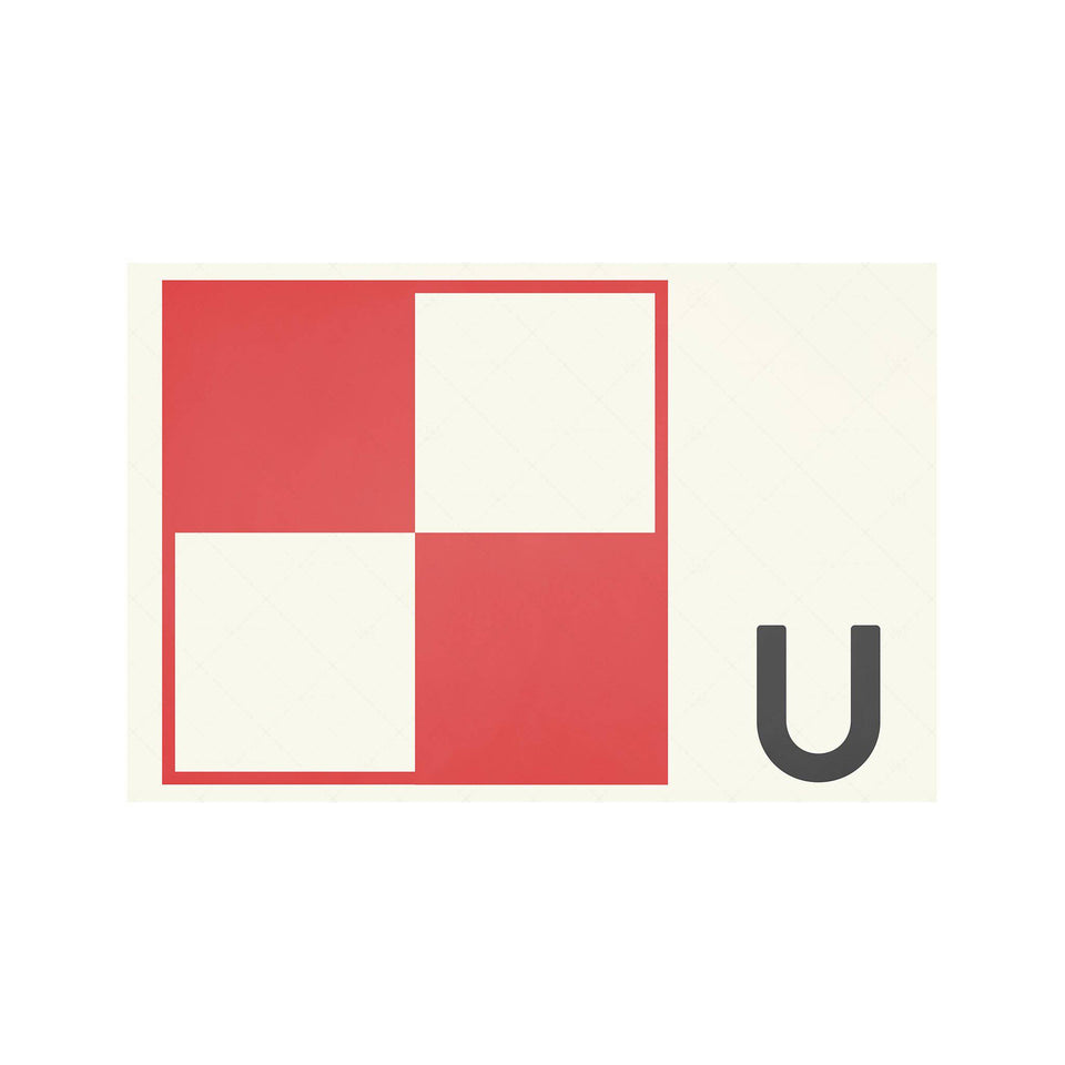LETTER U - Navy Signal Print - Foundry