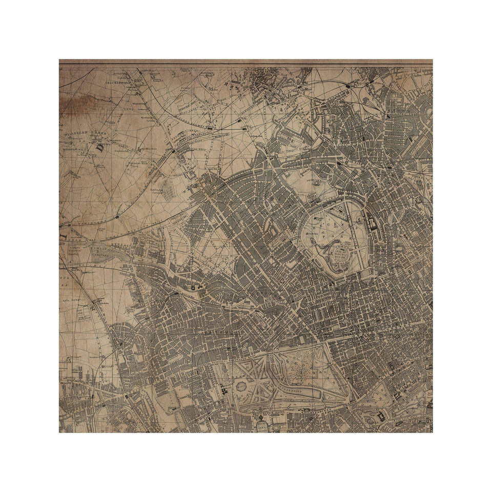 LONDON, ENGLAND - Map of 1890 - Foundry