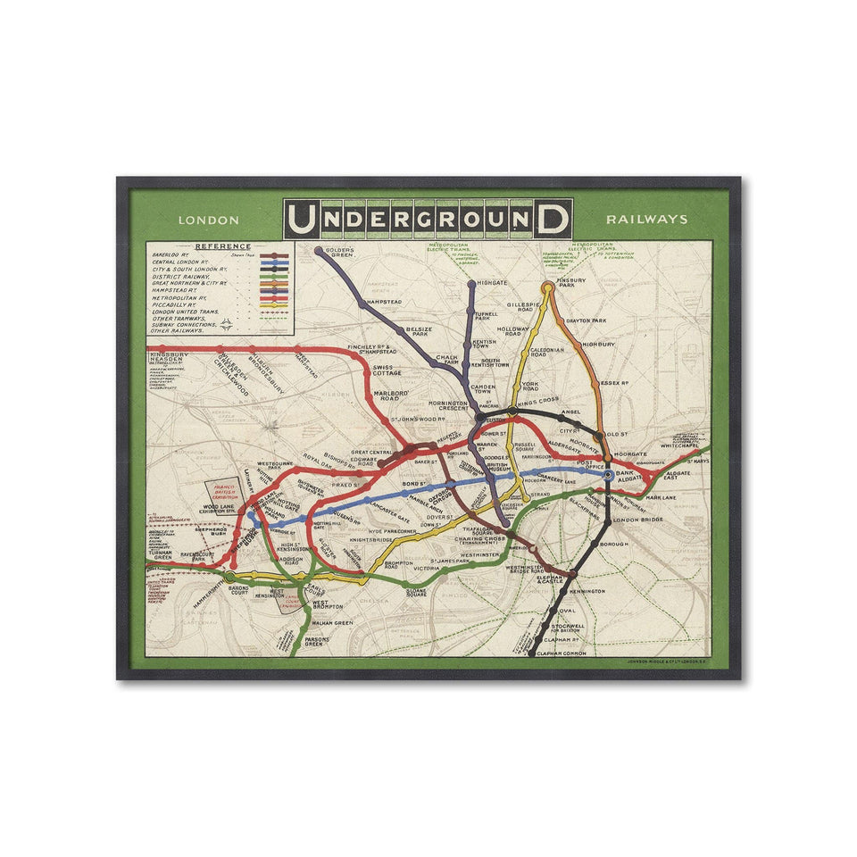 LONDON UNDERGROUND RAILWAYS Map - Foundry