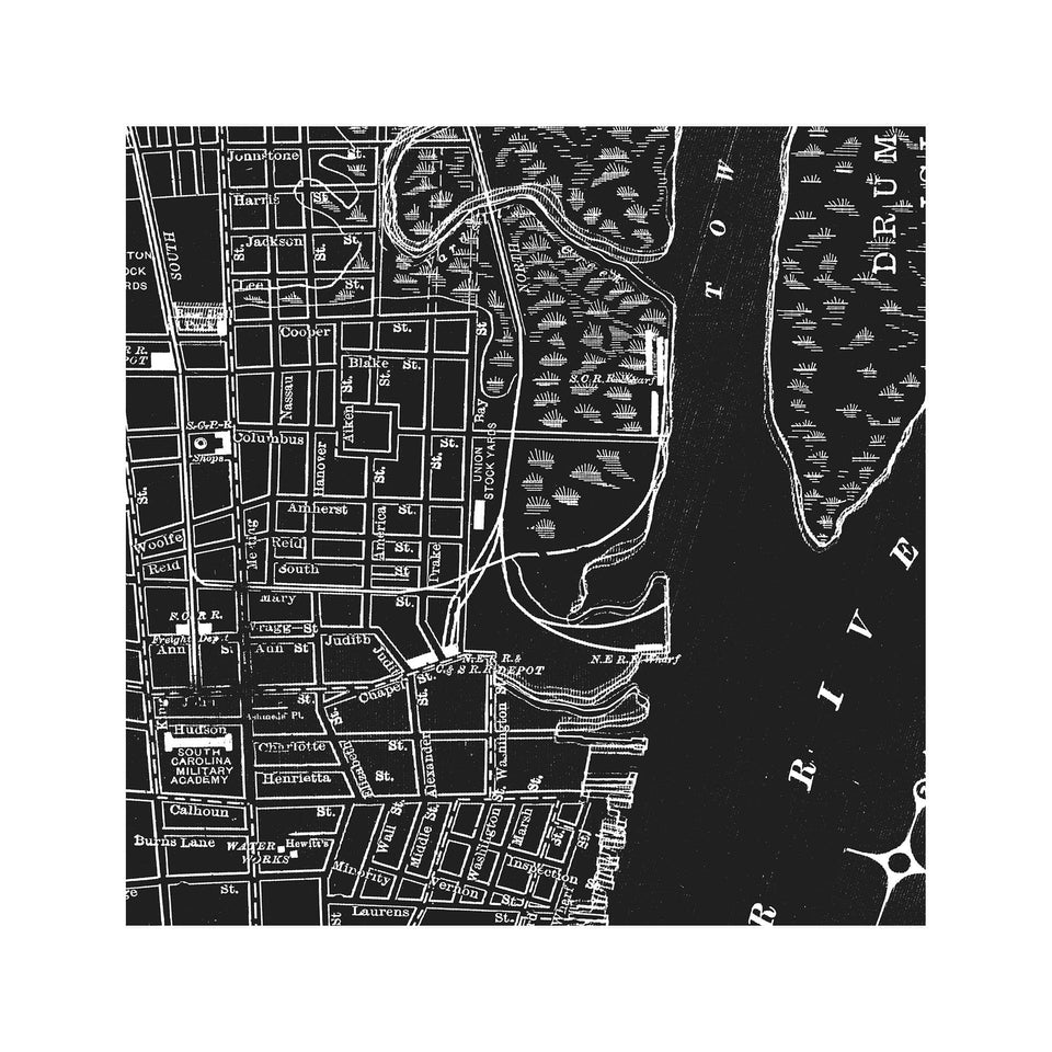 MAP of CHARLESTON, Circa 1900s - Foundry