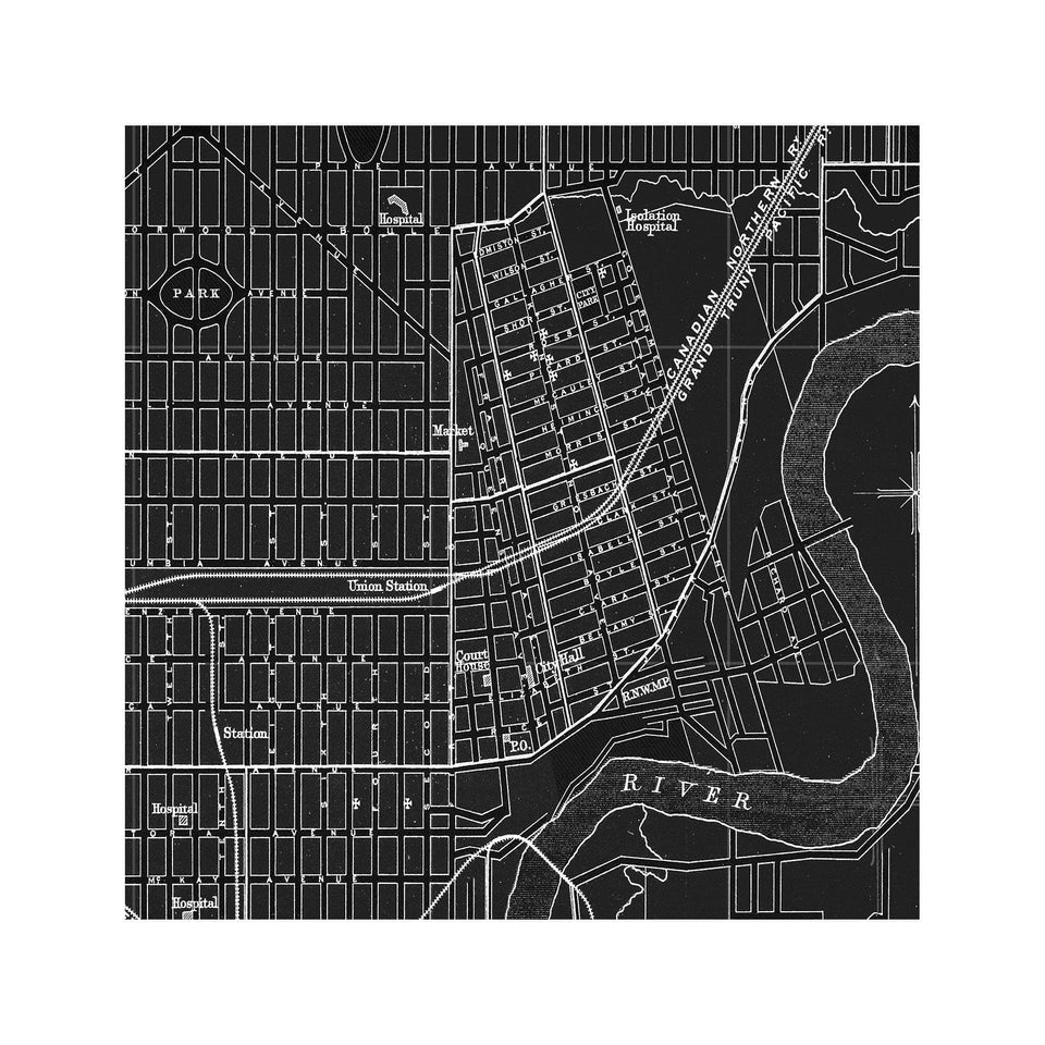 MAP of EDMONTON, Circa 1900s - Foundry