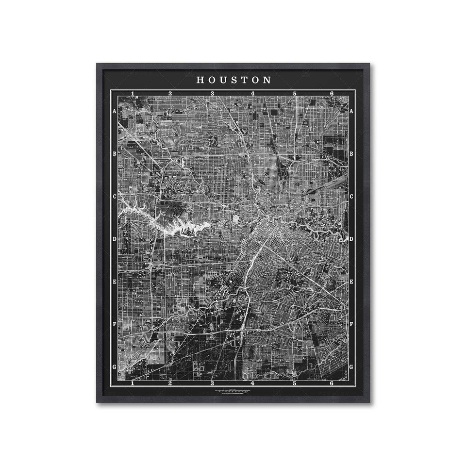 MAP of HOUSTON, Circa 1900s - Foundry