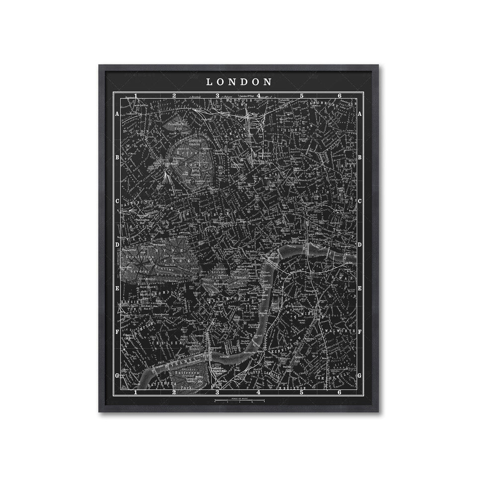 MAP of LONDON, Circa 1900s - Foundry