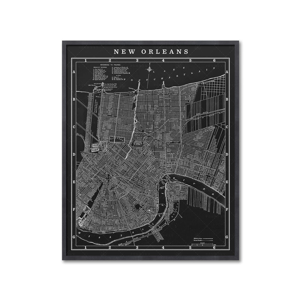 MAP of NEW ORLEANS, Circa 1900s - Foundry