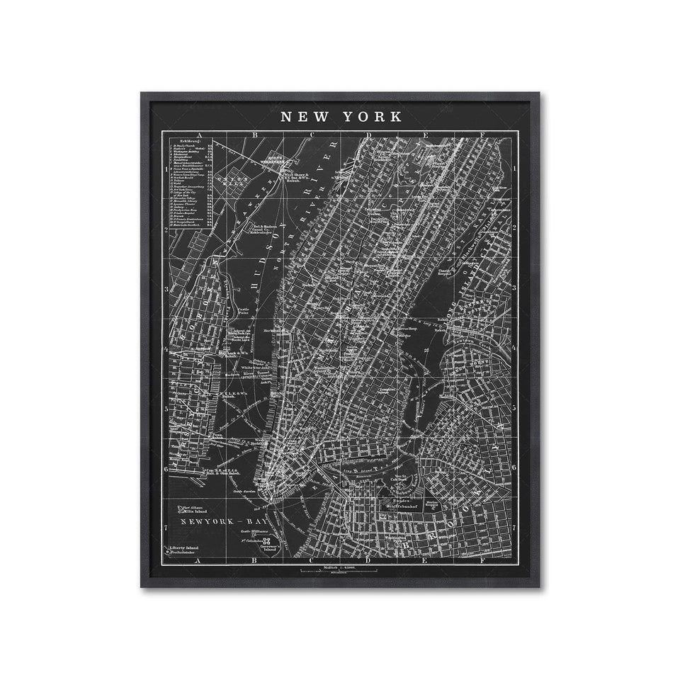 MAP of NEW YORK CITY, Circa 1900s - Foundry