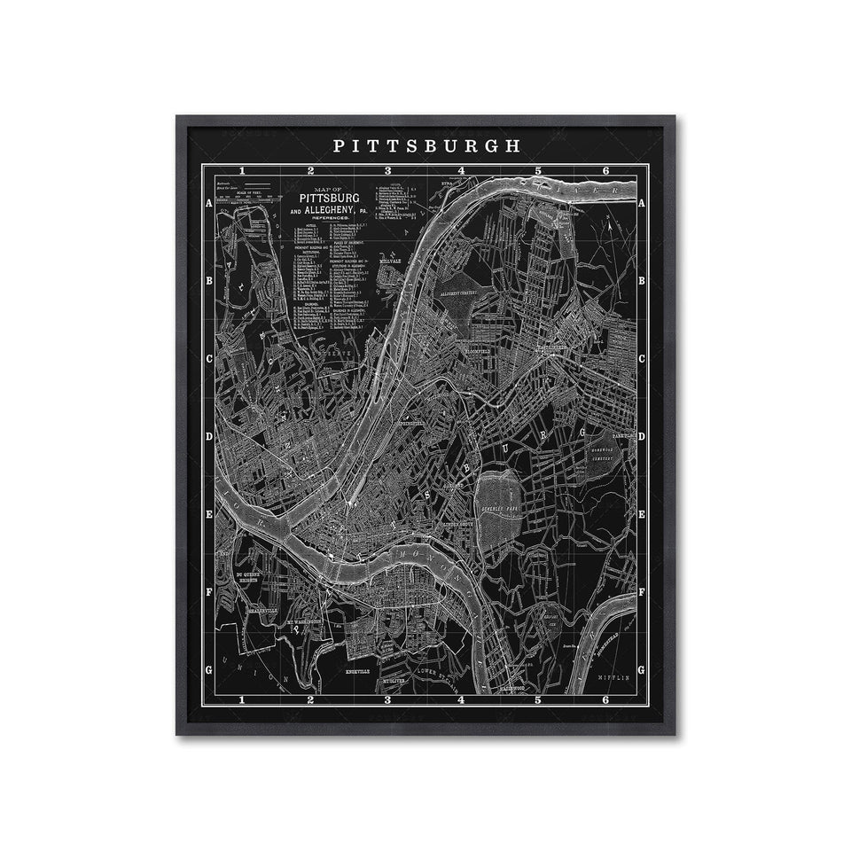 MAP of PITTSBURGH, Circa 1900s - Foundry