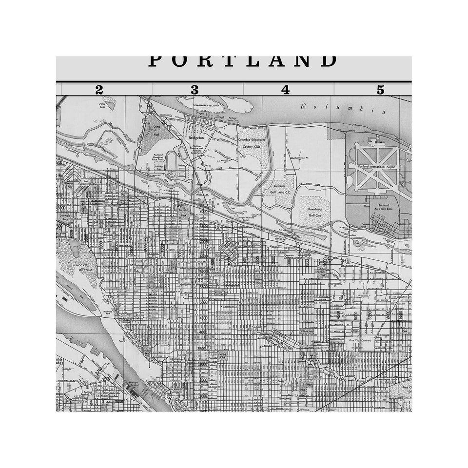 MAP of PORTLAND, Circa 1900s - Foundry