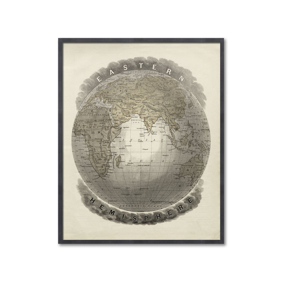 MAP of the EASTERN HEMISPHERE - Foundry