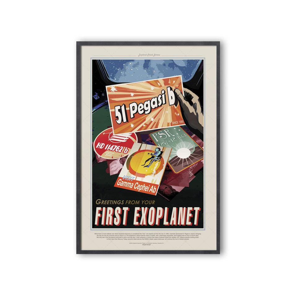 NASA Exoplanet Art - 51 PEGASI B Travel Poster