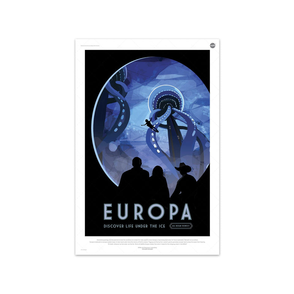 NASA Exoplanet Art - EUROPA Travel Poster