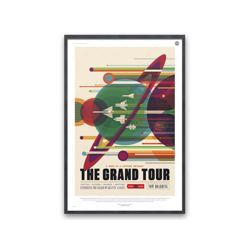 NASA Exoplanet Art - GRAND TOUR Travel Poster